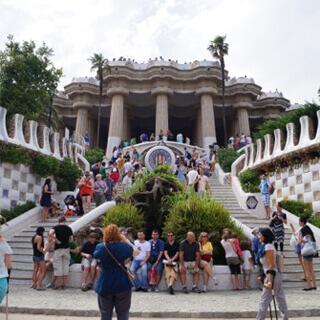 Der Eingang zum Park Güell.