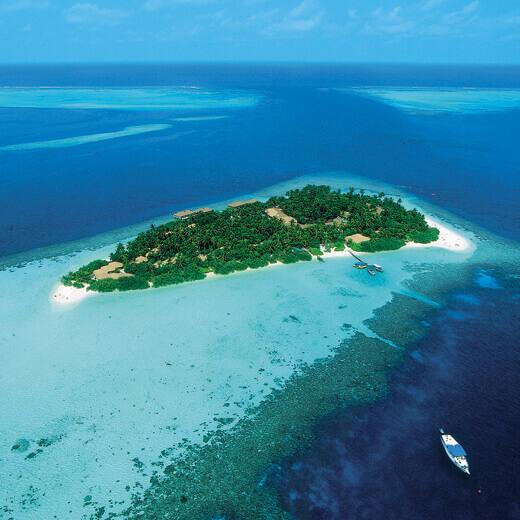 Embudu Island im Süd Male Atoll