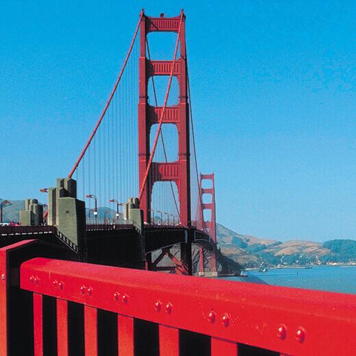 Die Golden Gate Bridge.