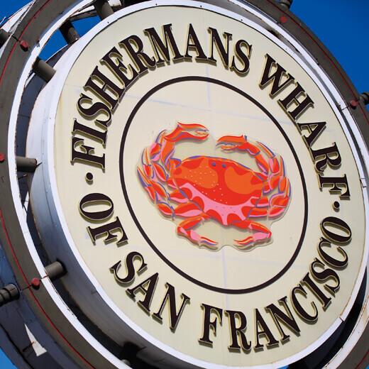 Die Fisherman's Wharf als Ausgangspunkt unserer Tandemfahrt.