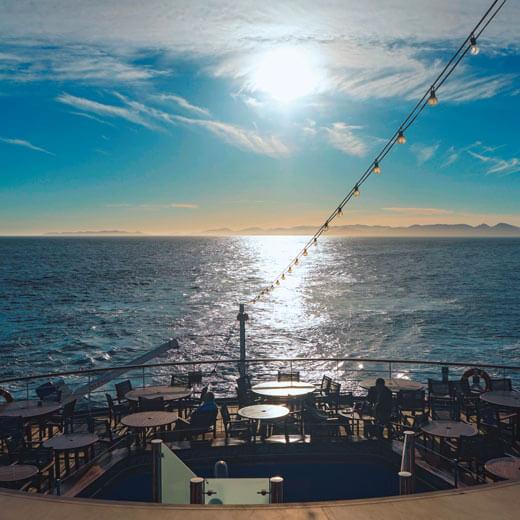Schöne Aussicht vom Schiff