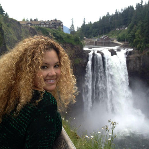 Ich bei den Snoqualmie Falls