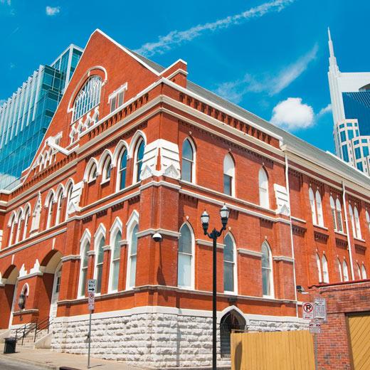 Ryman Auditorium in Nashville - die Hauptstadt der Country Musik