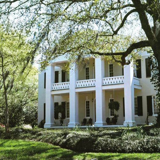 Typisches Plantation Home der Südstaaten