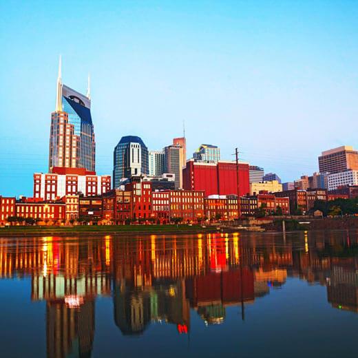 Blick auf Downtown Nashville
