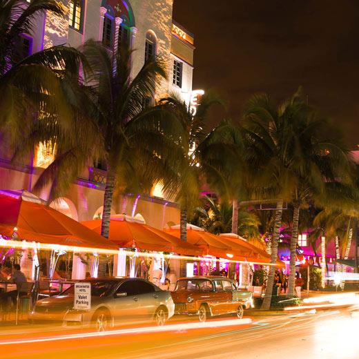 Das Art Deco District wo die Versace Mansion zu finden ist