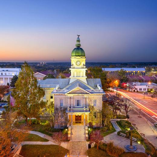 Das Rathaus in Athens, Georgia