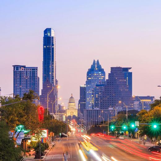 Die Skyline von Austin, Texas