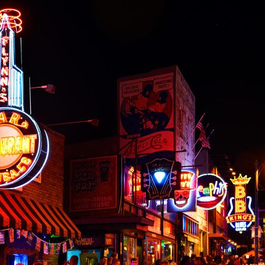 Die Beale Street in Memphis