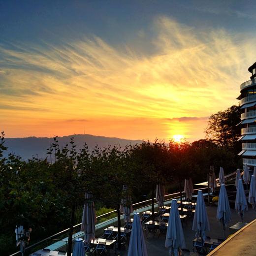 Sonnenuntergang in Zürich