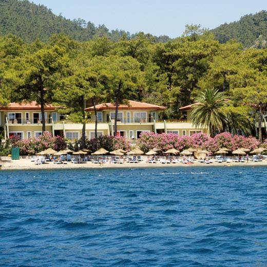 Reisetipp 2: Der flachabfallende Strand im Hotel Grand Yazici Club Turban ist ideal für Kinder