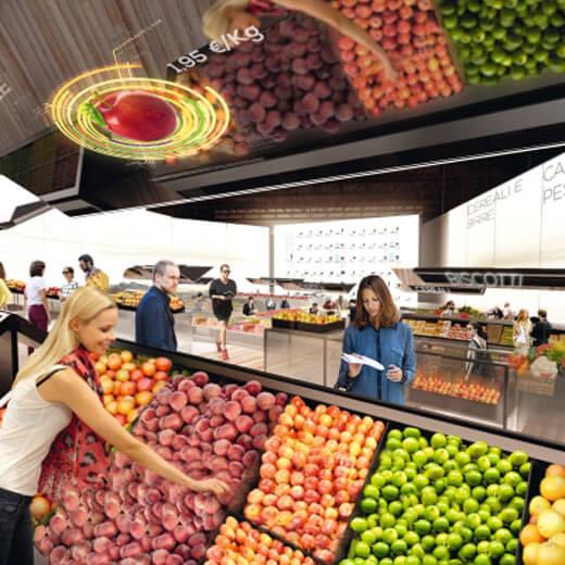 Marktstände an der Expo Milano