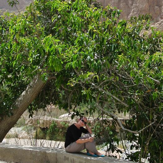 Ich im Wadi Tiwi