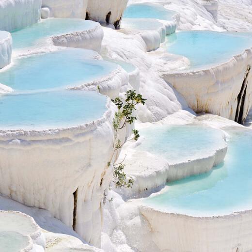 Die berühmten Kalkterassen von Pamukkale