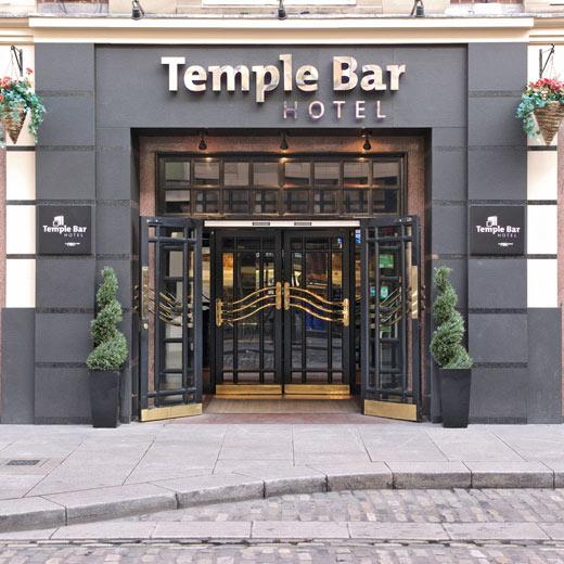 Das Hotel Temple Bar von aussen