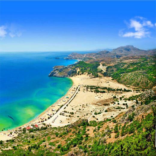 Atemraubende Küstenlandschaft Rhodos