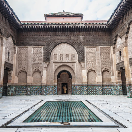 Der Innenhof der die Medersa Ben Youssef