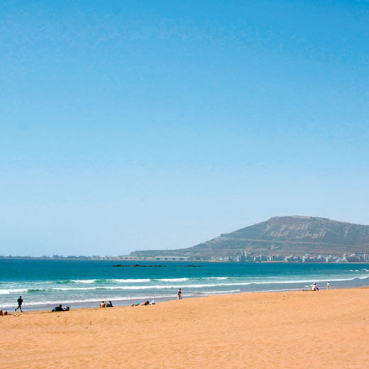 Entdeckt auch die wundervollen Strände bei Agadir