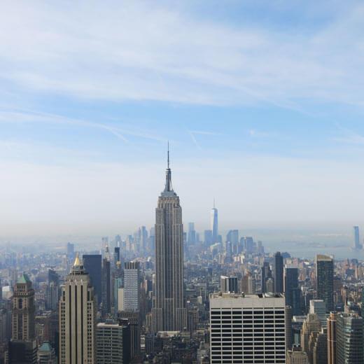 Beeindruckende Aussicht vom Rockefeller Center (Top of the Rock)