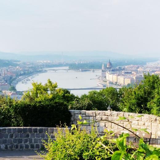 Blick auf Budapest vom Gellértberg