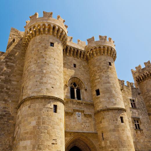 Die Festung bei Rhodos
