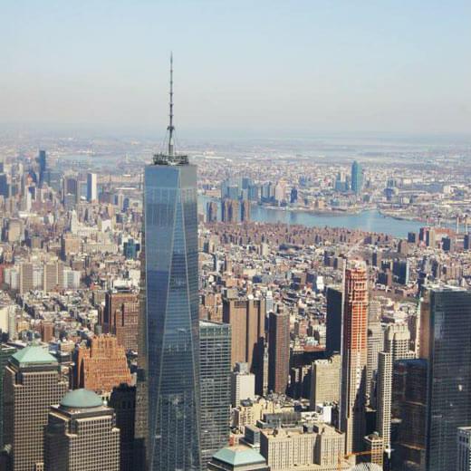 Ein Teil der Skyline – in der Mitte das One World Trade Center