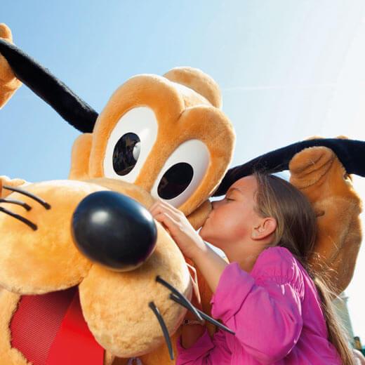 Für jedes Kind wohl ein Traum: eine der Disney Figuren zu treffen