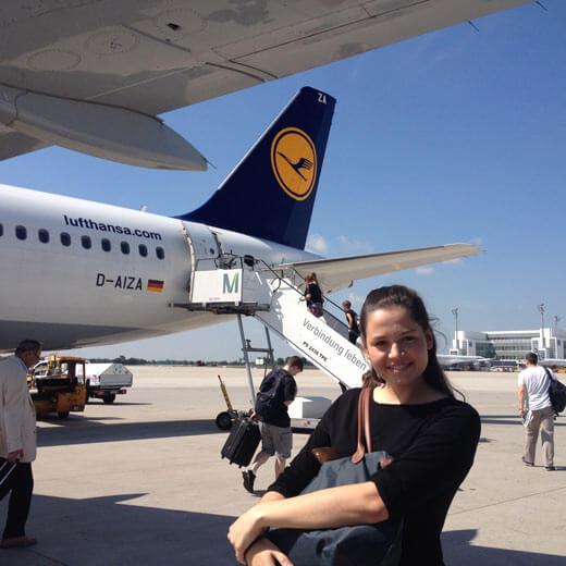 Anstatt mit Swiss gings mit der Lufthansa nach Budapest