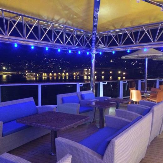 Mein persönlicher Lieblingsort auf dem Schiff: die Lounge