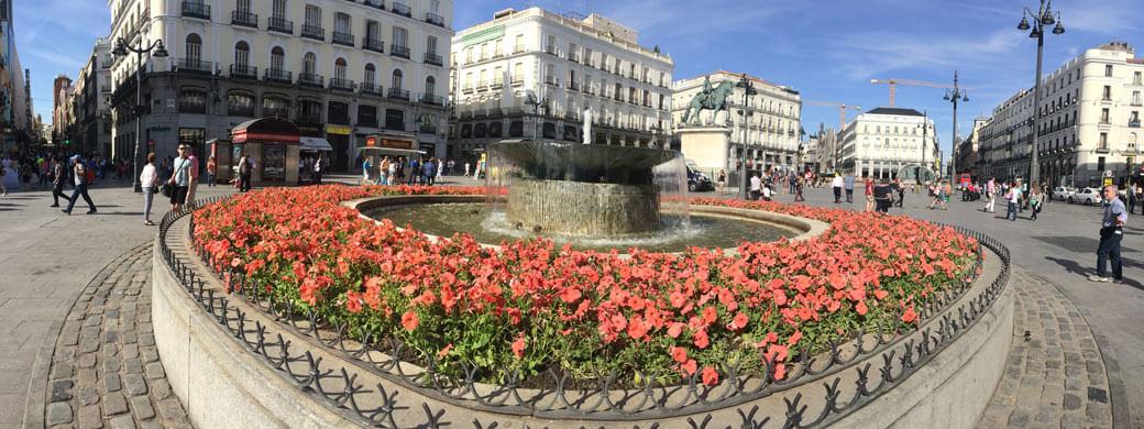 Der bekannte Platz, Puerta del Sol