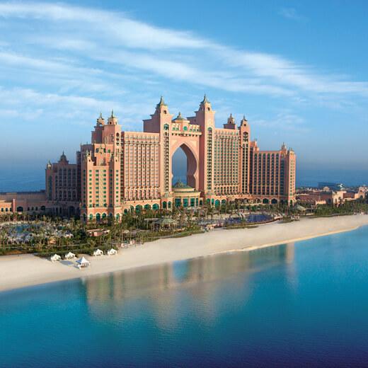 """Das Hotel Atlantis auf der Kunstinsel """"The Palm"""""""