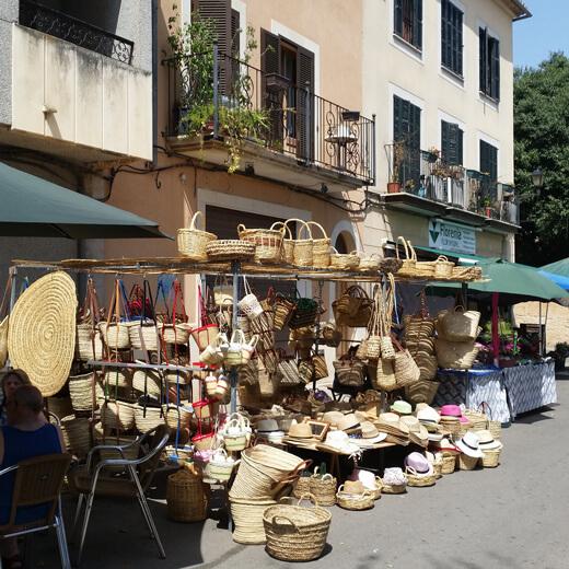 Ein kleiner Stand an einem der Wochenmärkte