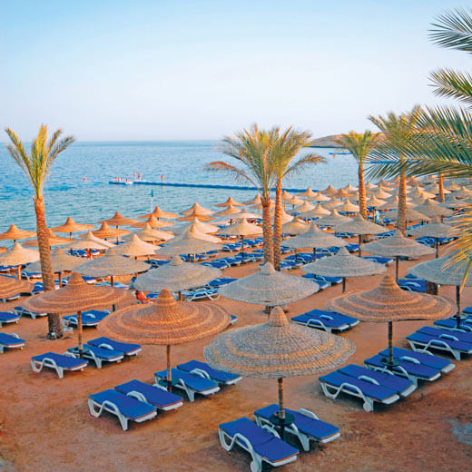 Geniesst den Strand in Hurghada