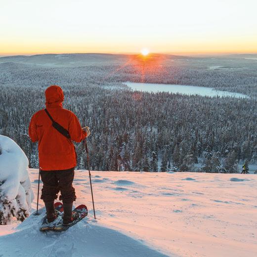 Mit den Schneeschuhen durch die Wildnis – ein wunderbares Erlebnis