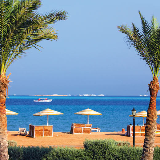 Sommerliche Temperaturen in Sharm el-Sheikh