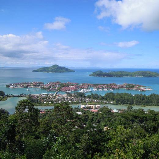 Eden Island mit der Hauptstadt Victoria