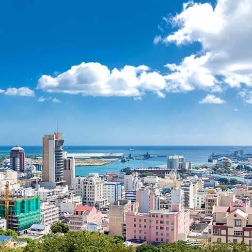 Sicht auf Mauritius Hauptstadt, Port-Louis