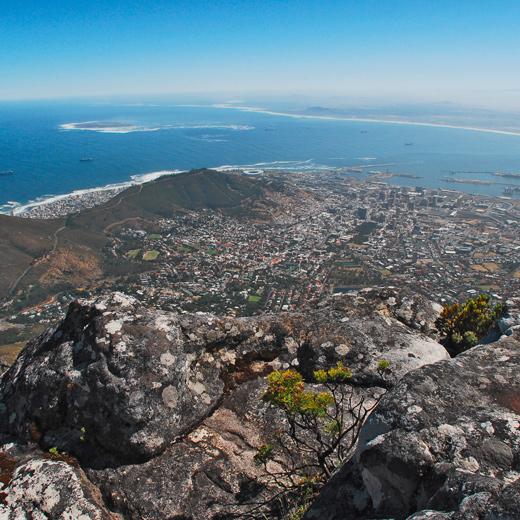Aussicht auf ganz Kapstadt