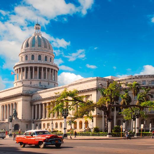 Das wohl bekannteste Fotosujet: Das Kapitol in Havanna