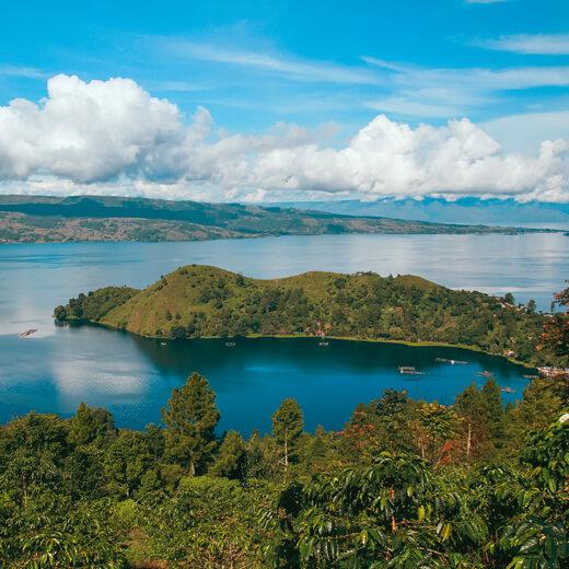 Der Toba See auf Sumatra