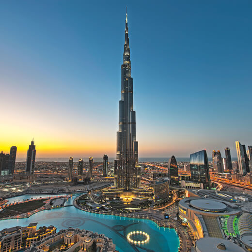 Der weltberühmte Burj Khalifa