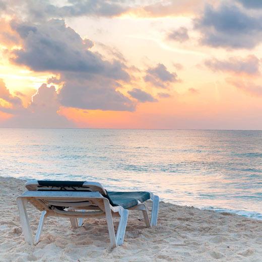 Ein umwerfender Sonnenuntergang in Playa del Carmen