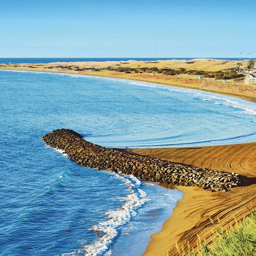 Aussicht auf den Strand von Playa del Ingles