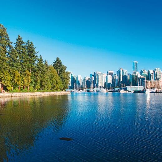 Aussicht auf die Stadt aus dem Stanley Park