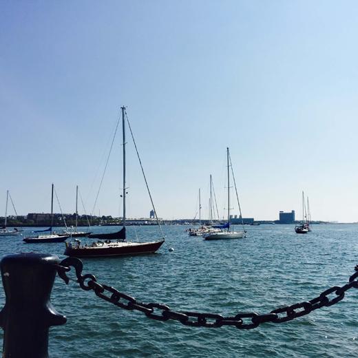 Der Hafen von Boston