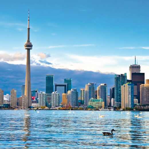 Die Skyline von Toronto
