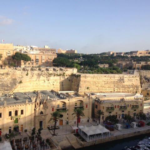 Aussicht vom Hafen von La Valletta