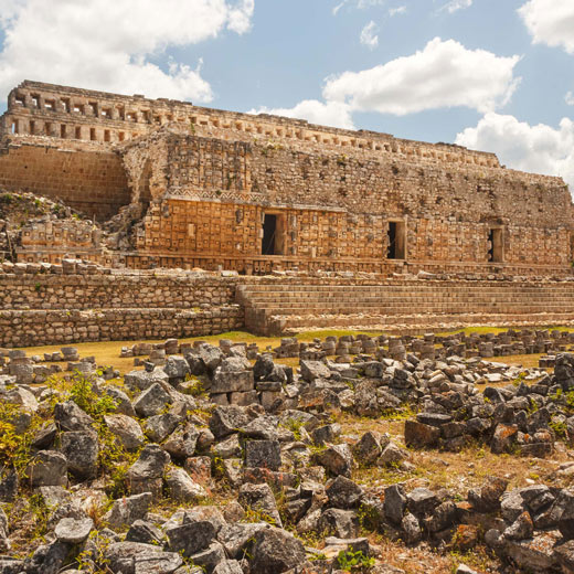 Beeindruckende Ruinen in Kabáh