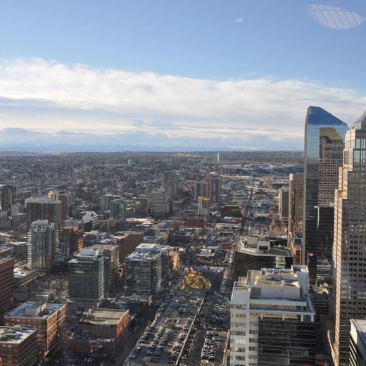 Der Calgary Tower bietet tolle Aussichten