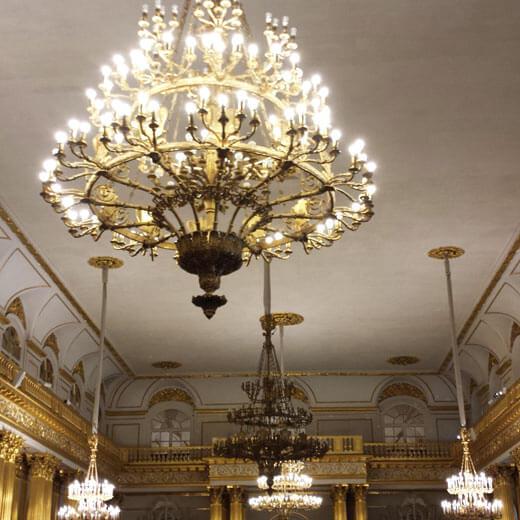 Der vergoldete Raum im Eremitage Museum